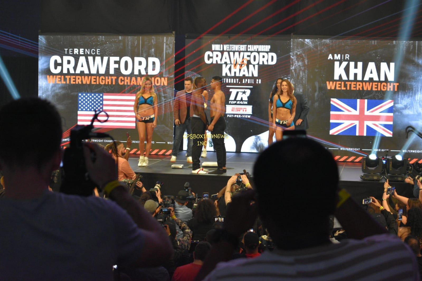 Khan vs Crawford: pesaje