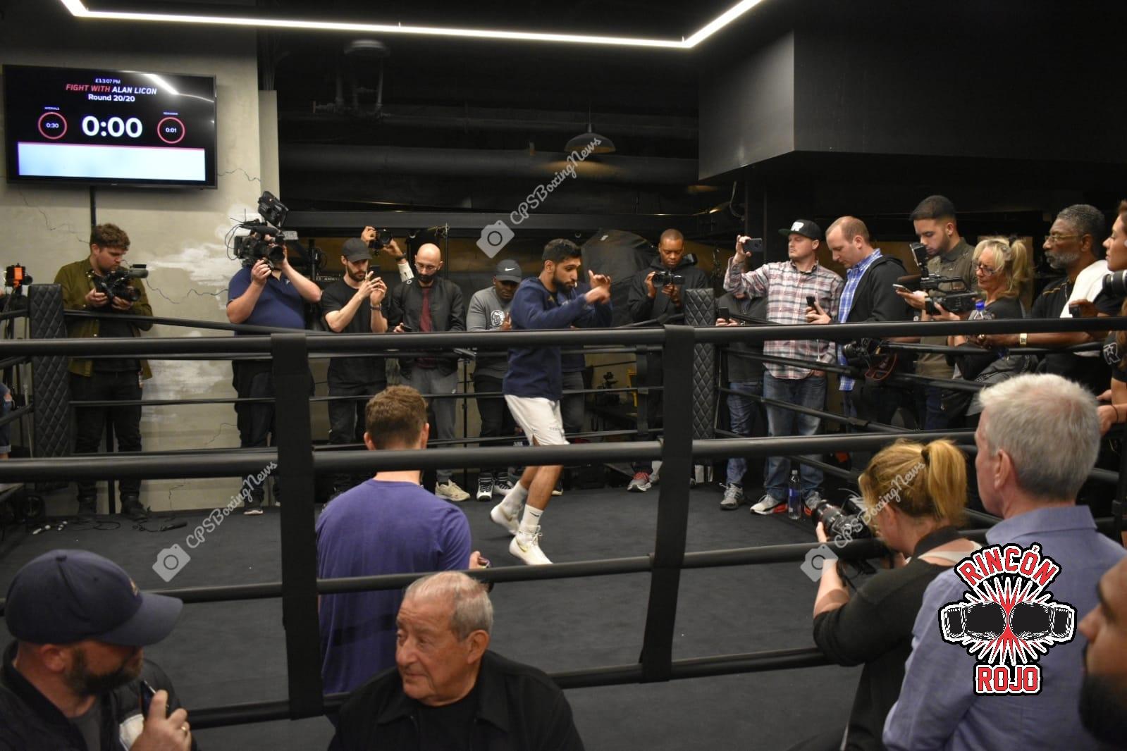 Crawford vs Khan: Media WorkOut