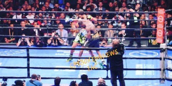 Wilder en conferencia post combate