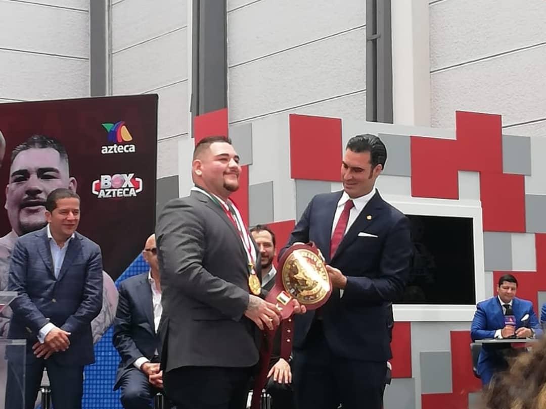 Andy Ruiz Jr en Ciudad de México