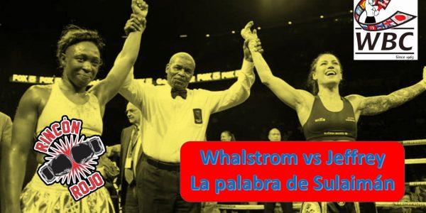 Wahlstrom vs Jeffrey: empate