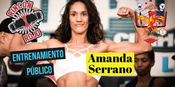 Amanda Serrano en entrenamiento público