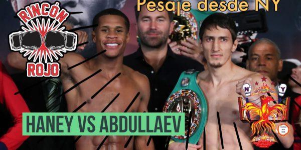 Haney vs Abdullaev: pesaje