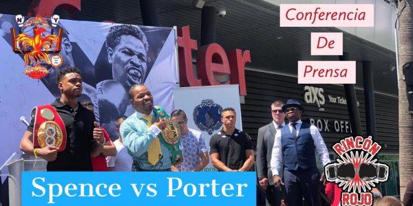 Spence Jr y Porter en conferencia de prensa