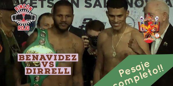 Pesaje: Dirrell vs Benavidez