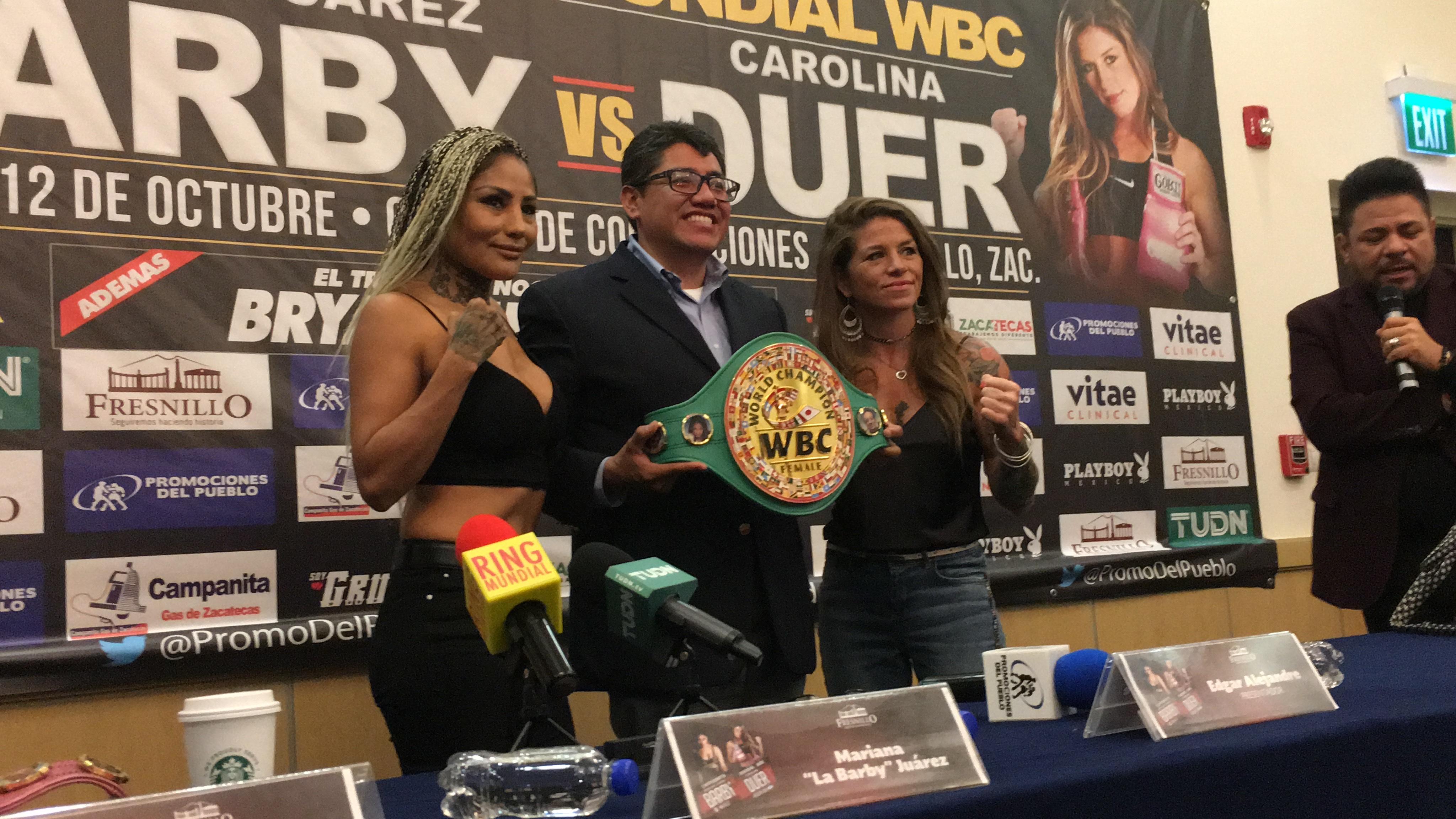 Juárez y Duer en conferencia de prensa desde Fresnillo