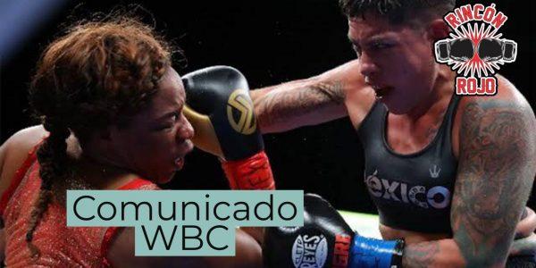 Comunicado del WBC con respecto a Alejandra Jimenez