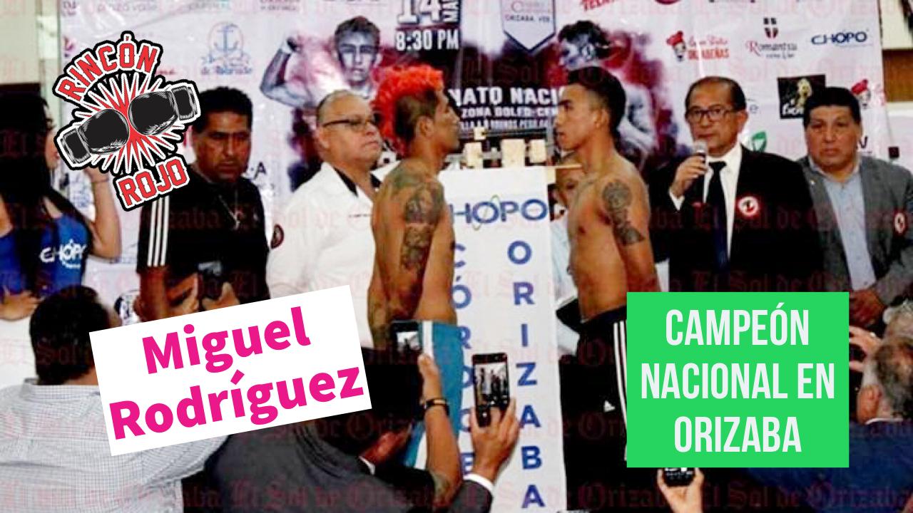 Miguel Rodríguez nuevo campeón nacional