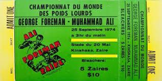 LA BATALLA QUE CAMBIO LA FORMA DE VER EL BOXEO RUMBLE IN THE JUNGLE, KINSHASA, ZAIRE, 1974